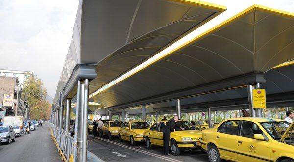 ایستگاه تاکسی بی سیم در مجاورت متروی شریعتی - اجاره خودرو طباطبایی