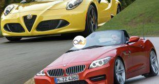 دوئل بامو Z4 و آلفارومئو 4C - اجاره خودرو