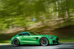 2018 Mercedes AMG GT R side in motion 02 300x199 مرسدس بنز GTR   اجاره ماشین