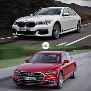 rent car 2017 07 28 04 22 13 300x300 مقایسه تصویری بامو سری ۷ و آئودی A8 جدید   اجاره ماشین