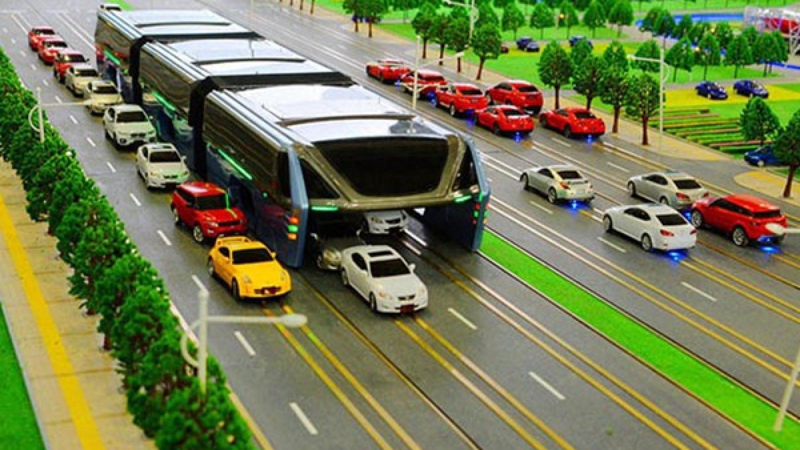 اتوبوس چینی ها که مشکل ترافیک را برای همیشه حل می کند - اجاره خودرو طباطبایی