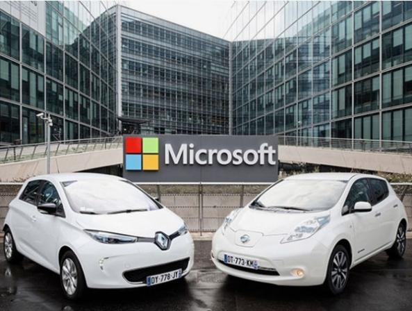 رنو و نیسان با همکاری مایکروسافت خودروهای خود را به سیستم ابری متصل میکنند - اجاره خودرو طباطبایی