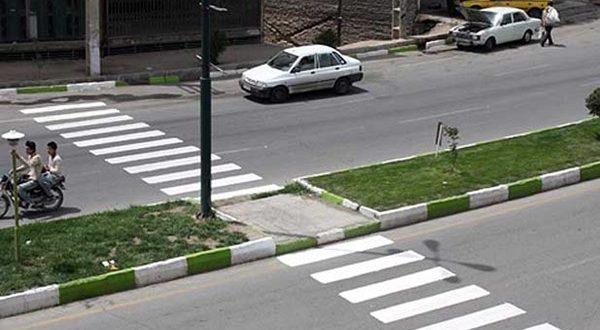 نصب علائم ترافیکی و خط کشی عابر پیاده در منطقه 13 - اجاره خودرو طباطبایی