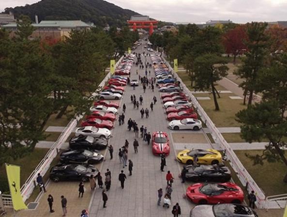 گردهمایی بیش از 70 سوپر اسپرت فراری در ژاپن - اجاره خودرو طباطبایی