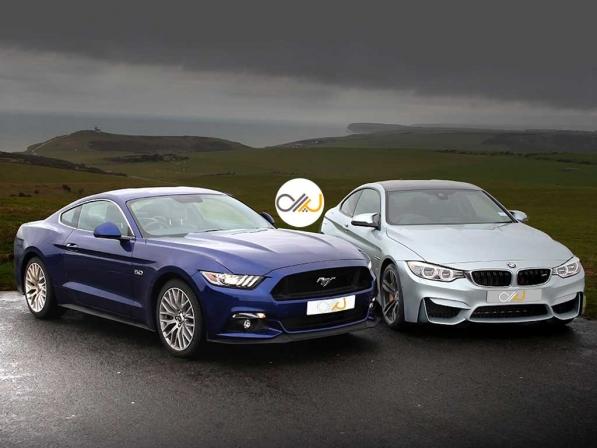 دوئل فورد موستانگ GT و بامو M4 - اجاره خودرو