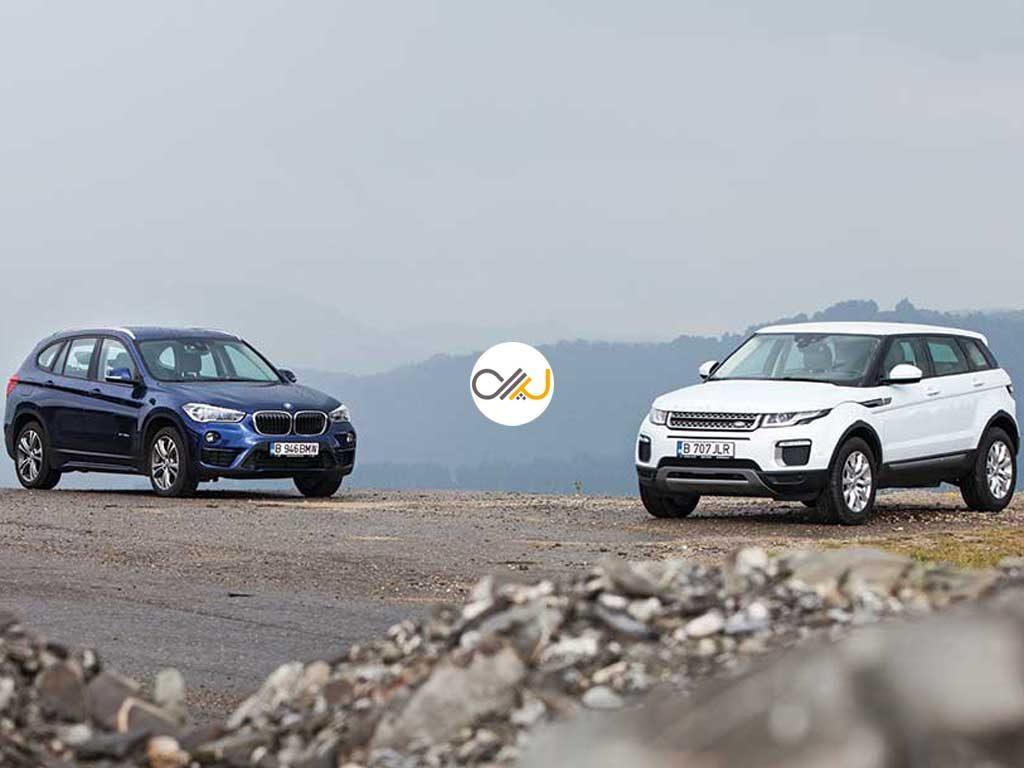 دوئل بامو X1 و رنجروور اووک - اجاره خودرو