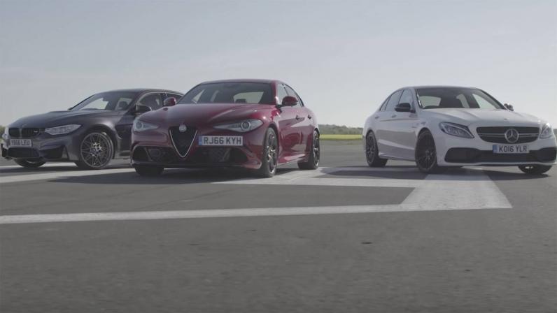 تقابل آلفا جیولیا QV با بامو M3 و مرسدس C63 S - اجاره خودرو