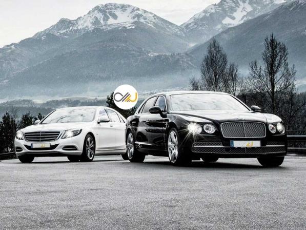 دوئل بنتلی فلاینگ اسپار و مرسدس-مایباخ S600 - اجاره خودرو