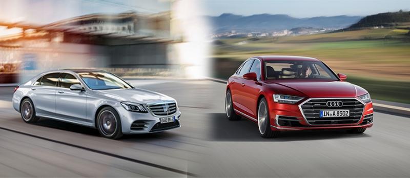 مقایسهٔ نسل جدید آئودی A8 با مرسدس بنز S کلاس فیسلیفت - اجاره خودرو