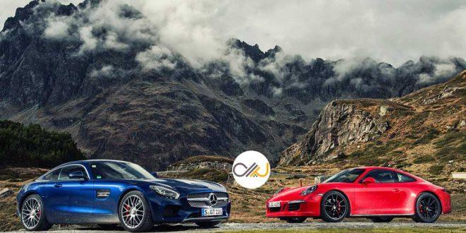 دوئل پورشه 911 و مرسدس-آامگ GT - اجاره خودرو