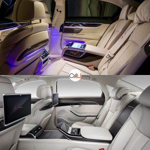 مقایسه تصویری بامو سری ۷ و آئودی A8 جدید - اجاره خودرو