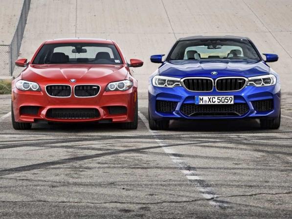 مقایسهٔ شانهبهشانهٔ نسل قدیم و جدید بامو M5 - اجاره خودرو