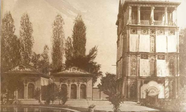 rent car Mansion Eshrat Abad Tehran بررسی عمارت کلاه فرنگی عشرت آباد تهران   اجاره ماشین
