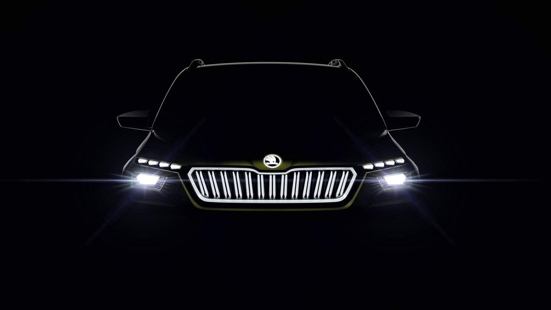 skoda vision x concept teaser اسکودا ایکس یک خودرو کاملا منحصر و زیبا   اجاره ماشین