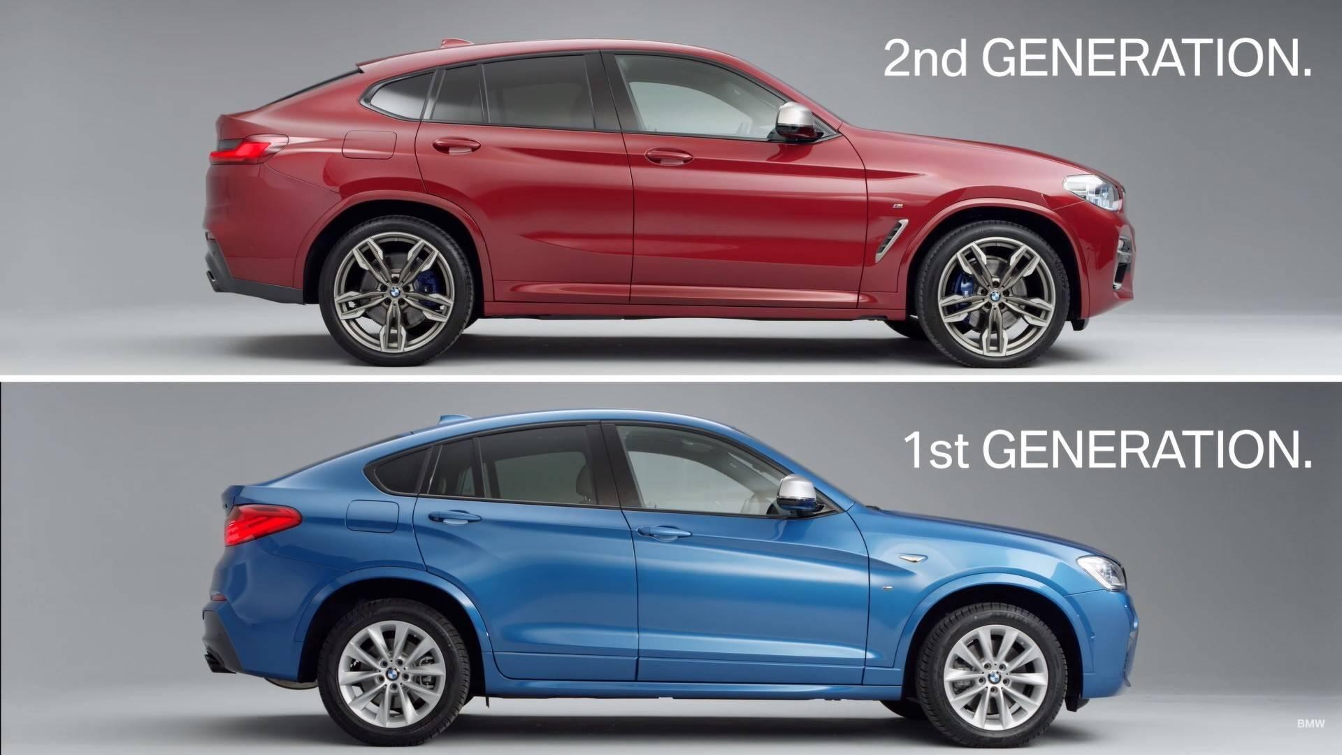 5aae12aab22e7 first gen bmw x4 vs second gen bmw x4 بی ام و x4 مدل ۲۰۱۹ رونمایی شد   اجاره ماشین
