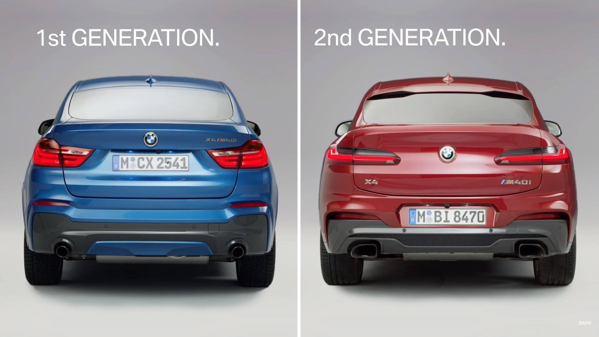 5aae12b649dd4 first gen bmw x4 vs second gen bmw x4 بی ام و x4 مدل ۲۰۱۹ رونمایی شد   اجاره ماشین