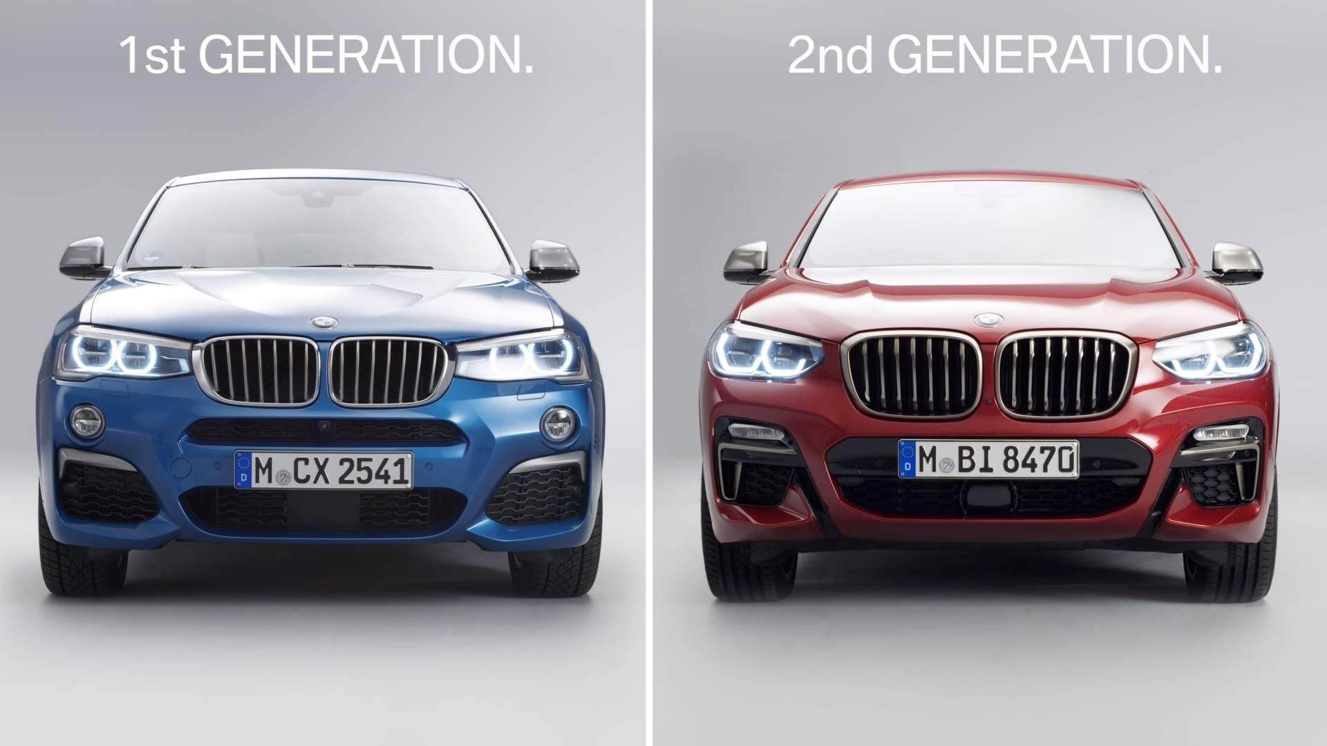 first gen bmw x4 vs second gen bmw x4 بی ام و x4 مدل ۲۰۱۹ رونمایی شد   اجاره ماشین